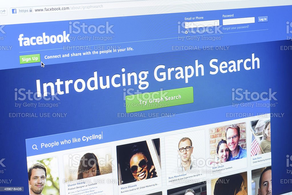 Facebook Graph Search royalty-free stock photo