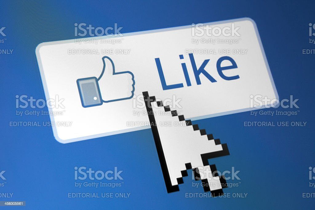 Facebook Like Button stock photo