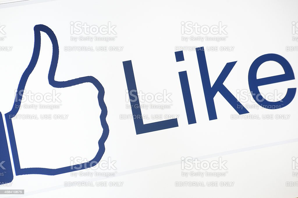 Facebook Like Button royalty-free stock photo