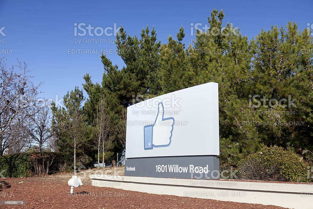 Facebook Menlo Park royalty-free stock photo