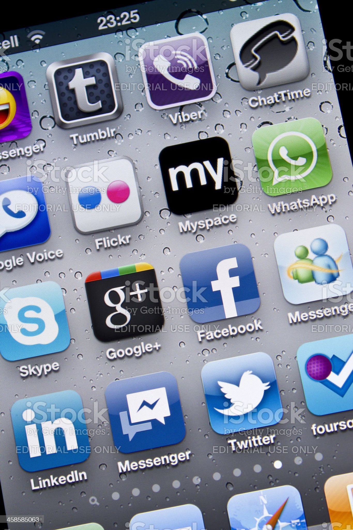 Facebook Messenger and other Social Media Applications royalty-free stock photo