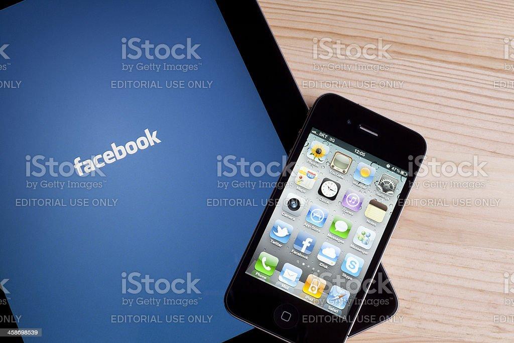 Facebook on Apple iPad royalty-free stock photo