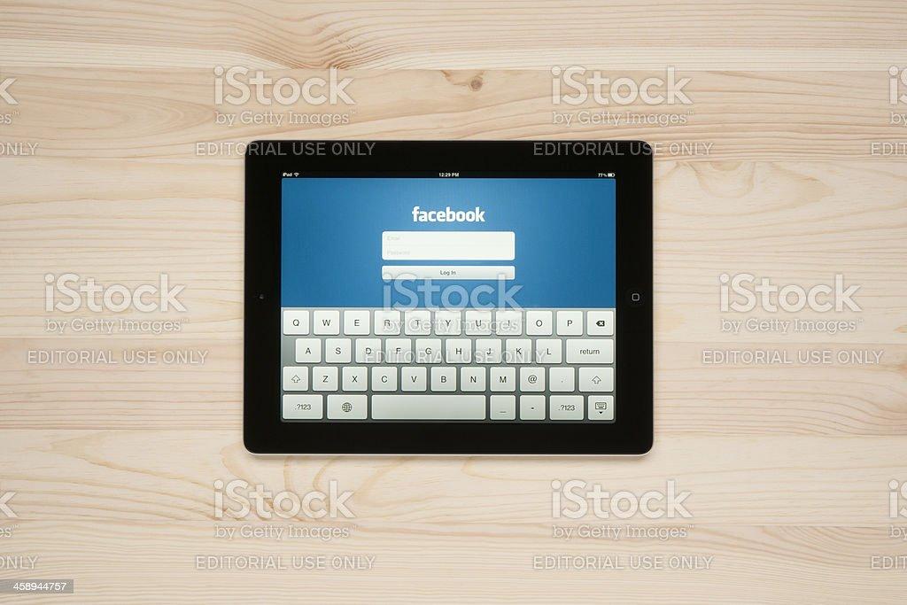 Facebook on Apple iPad stock photo