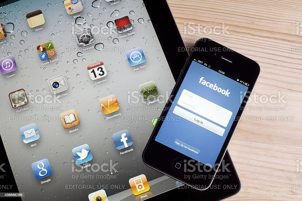 Facebook on Apple iPhone stock photo