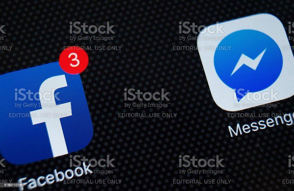 Facebook on iPad stock photo
