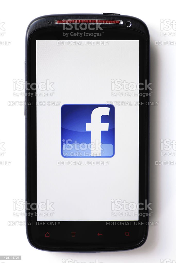 Facebook phone royalty-free stock photo