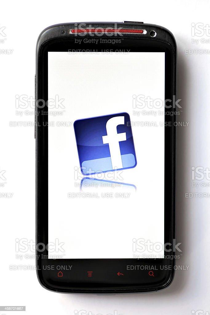 Facebook phone royalty-free stock photo