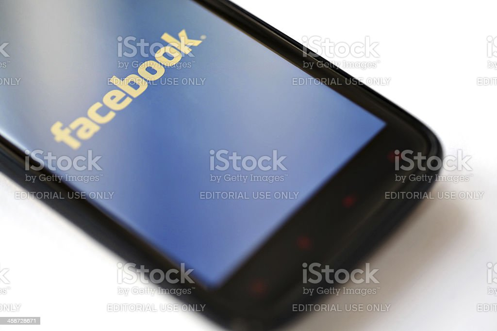 Facebook phone stock photo