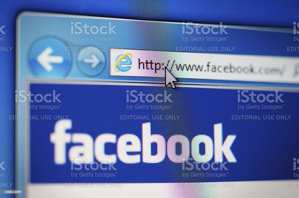Facebook royalty-free stock photo