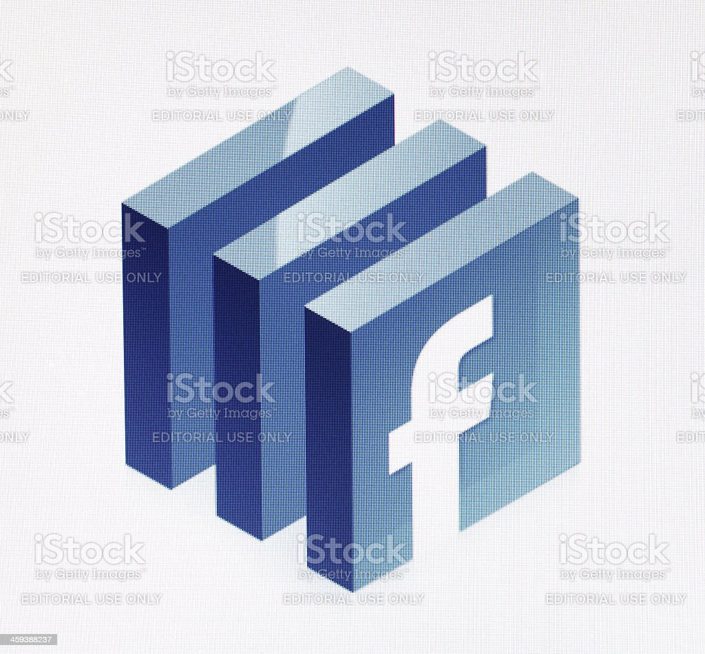 Facebook royalty-free stock photo