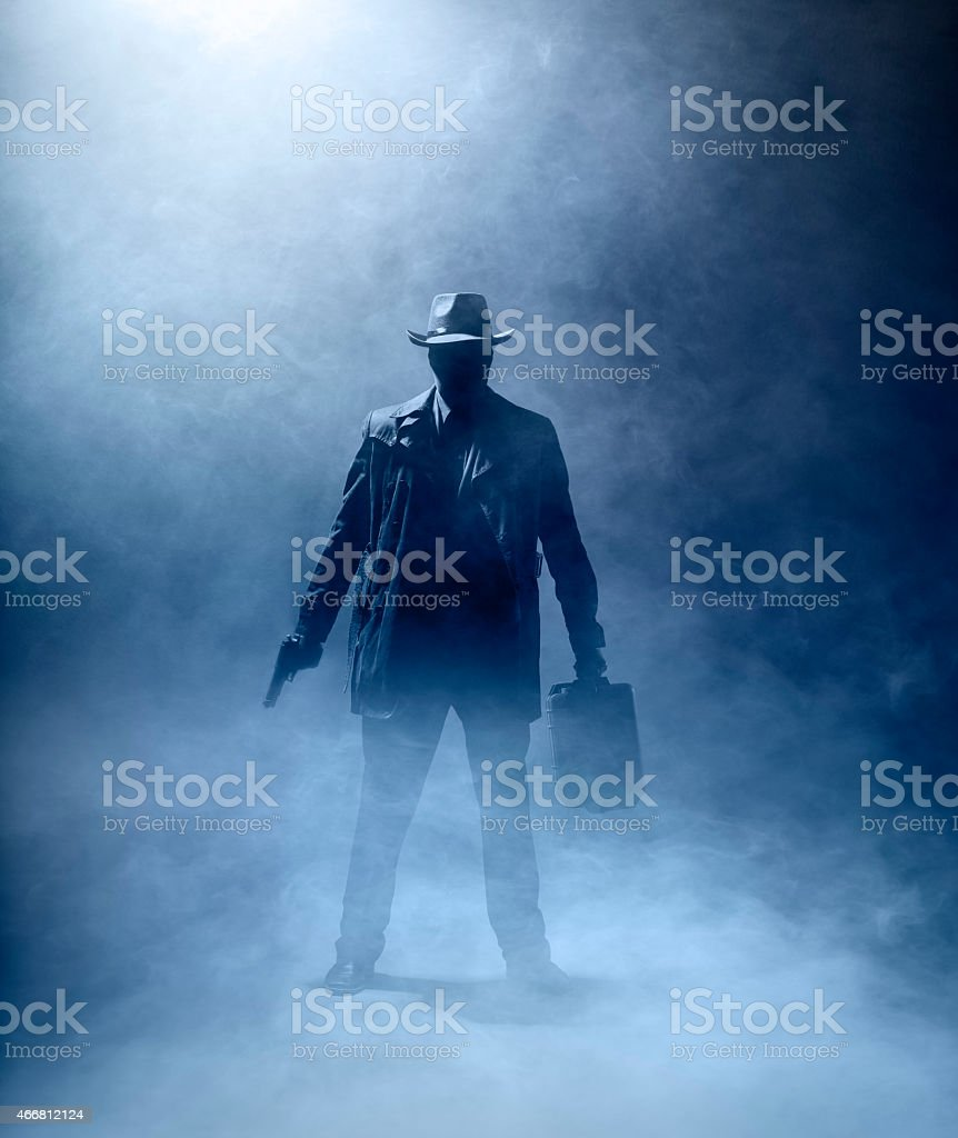 Faceless Killer stock photo