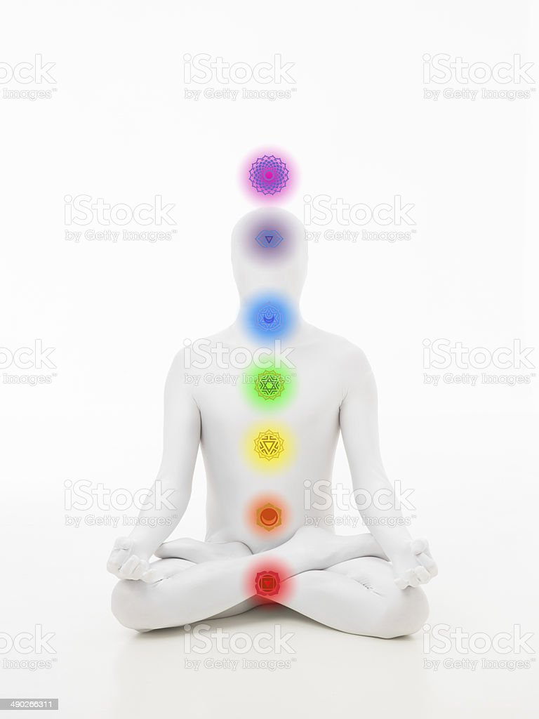 faceless man chakra graphics stock photo