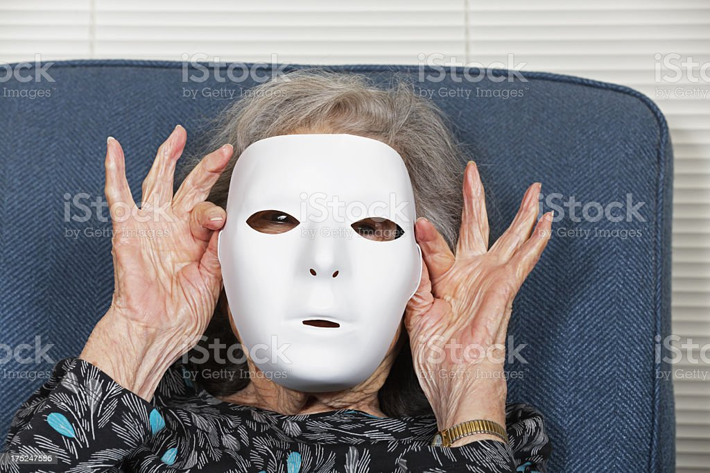 Faceless Senior Woman stock photo