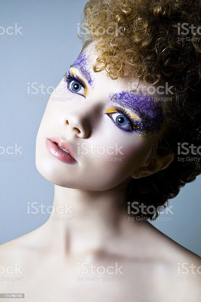 Facepaint Glamour royalty-free stock photo