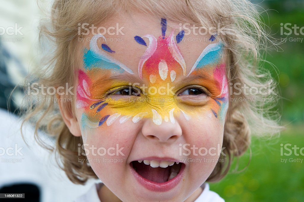 Facepainted stock photo