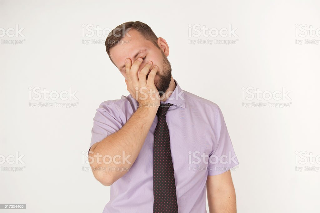 Facepalm or despair concept stock photo