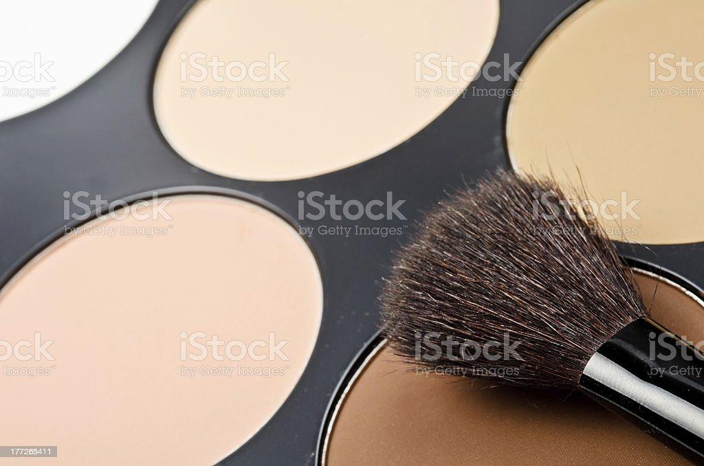 Face-powder royalty-free stock photo
