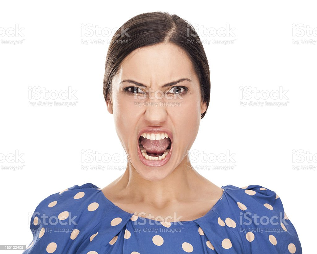 Faces: Angry stock photo