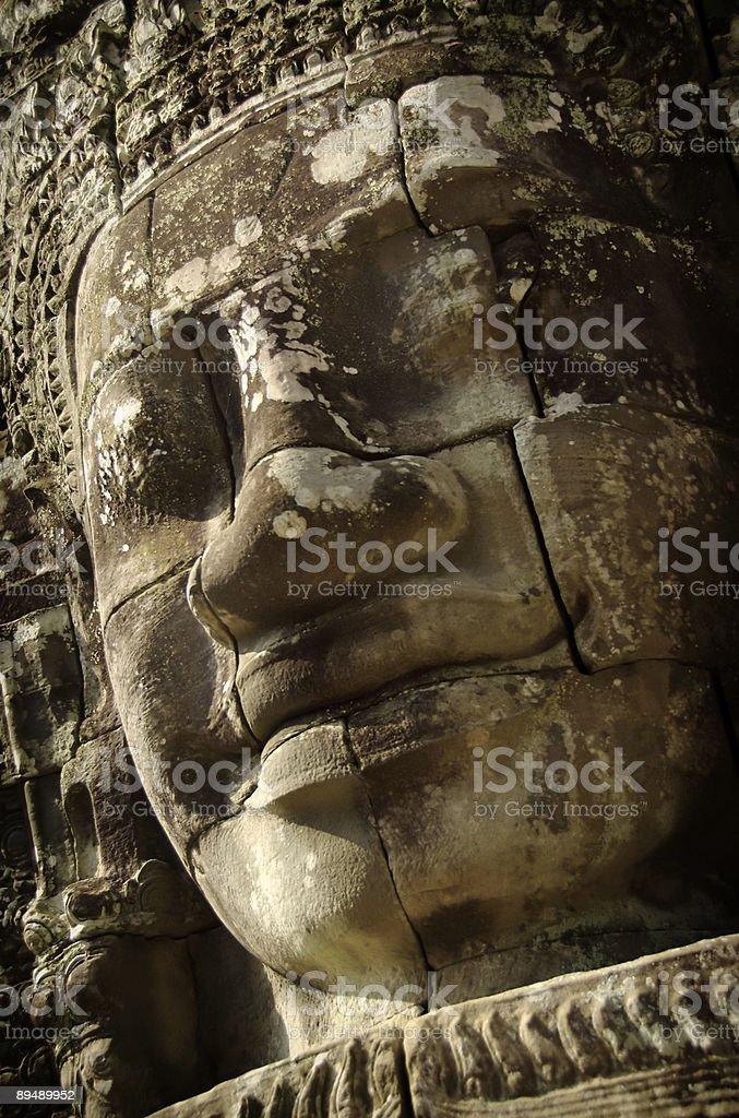Faces of Bayon, Angkor Thom royalty-free stock photo