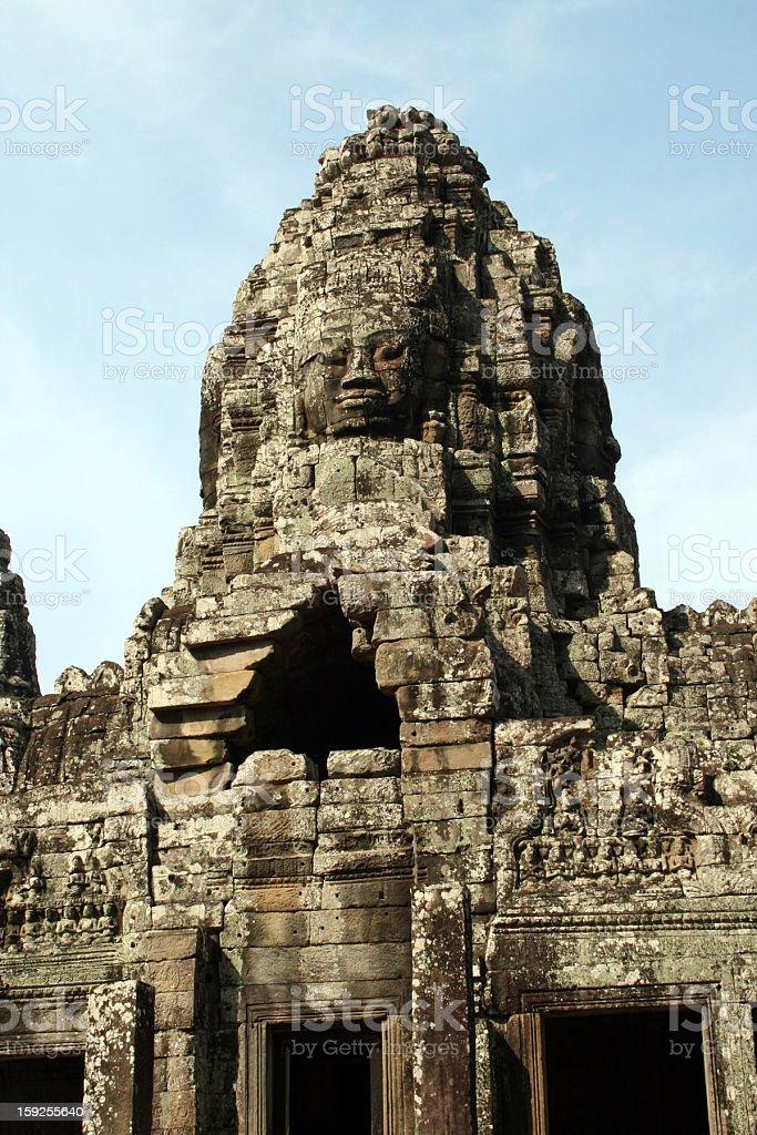 Facce di Tempio di Bayon, Angkor, Cambogia foto stock royalty-free