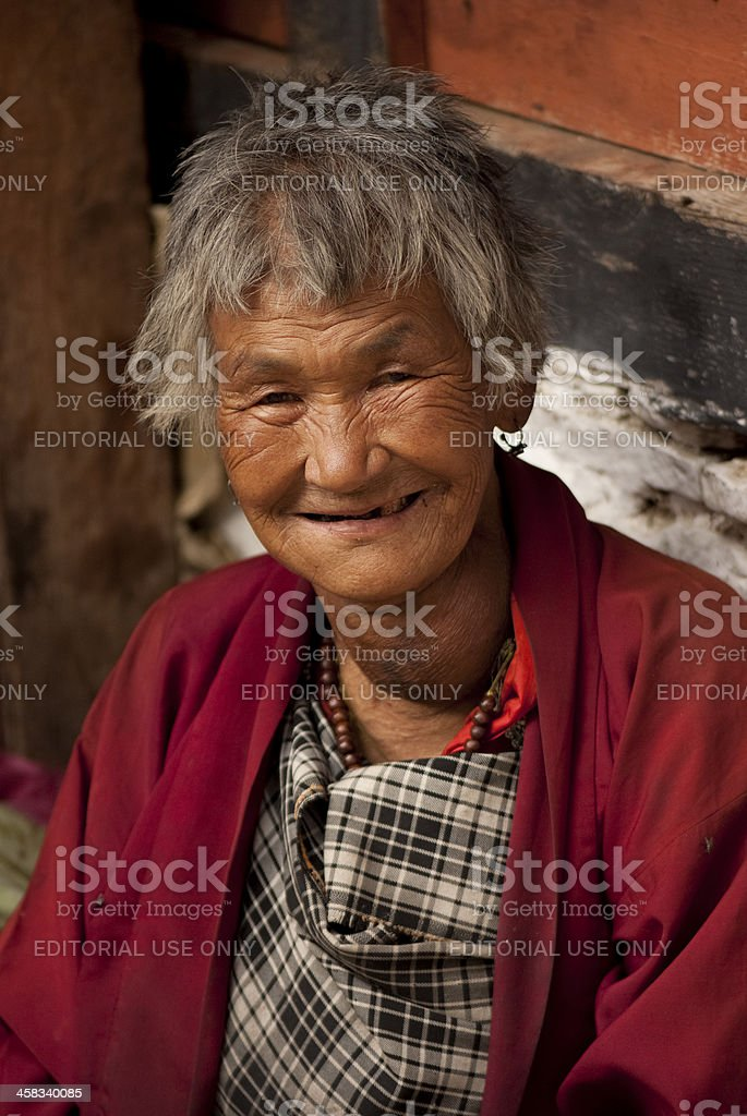 Faces of Bhutan stock photo