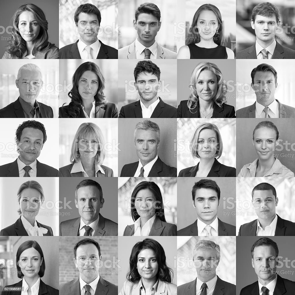 Faces of Business royalty-free stock photo