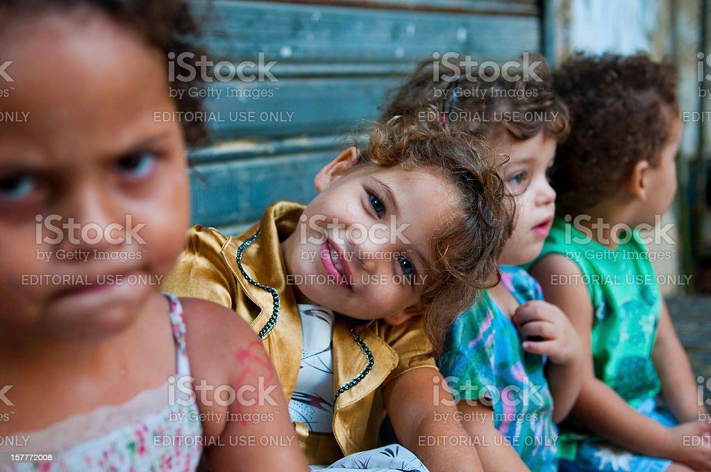 Beautiful girls in Sidon, Lebanon stock photo