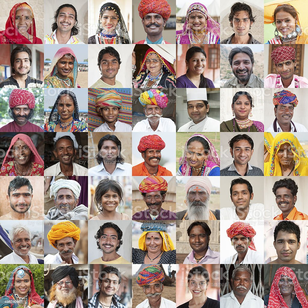 Faces of India stock photo