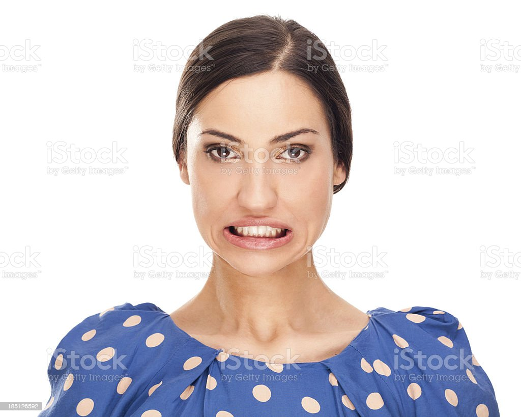 Faces: Oops stock photo
