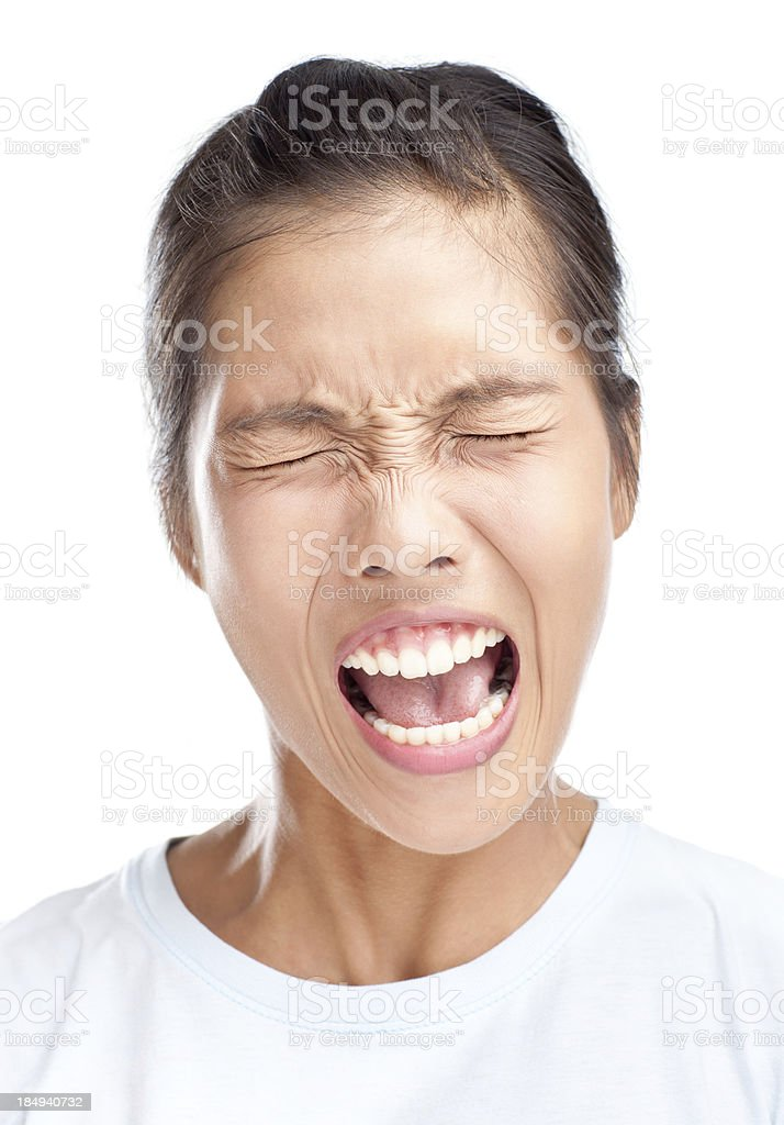 Faces: Scream royalty-free stock photo