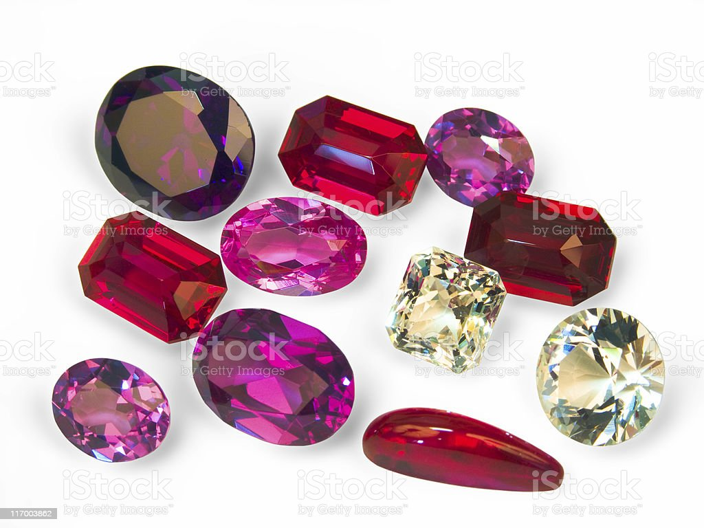 faceted stones royalty-free stock photo