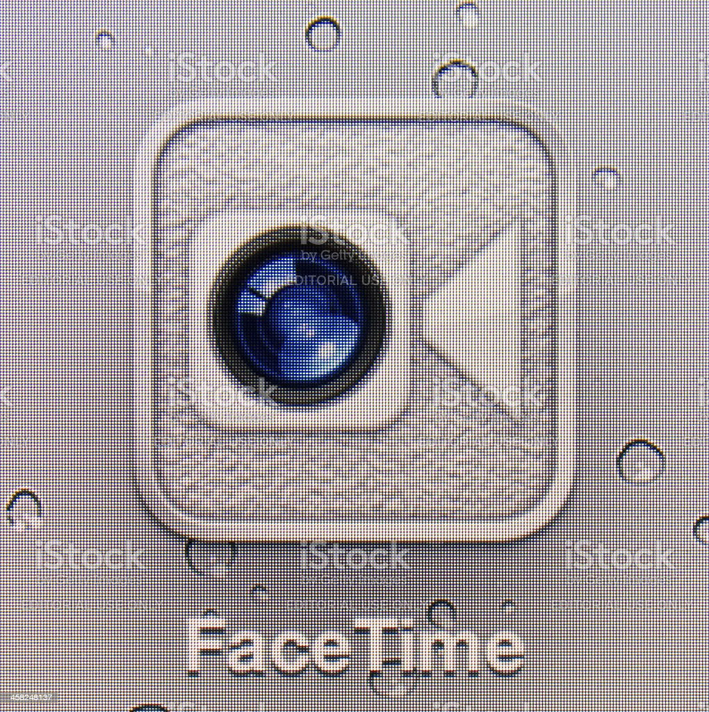 FaceTime royalty-free stock photo