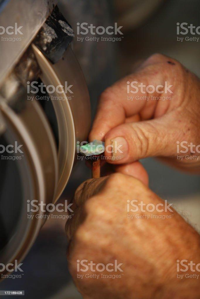 facetting gems stock photo