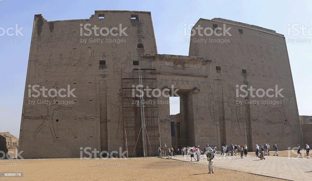 Fachada del Templo de Luxor royalty-free stock photo