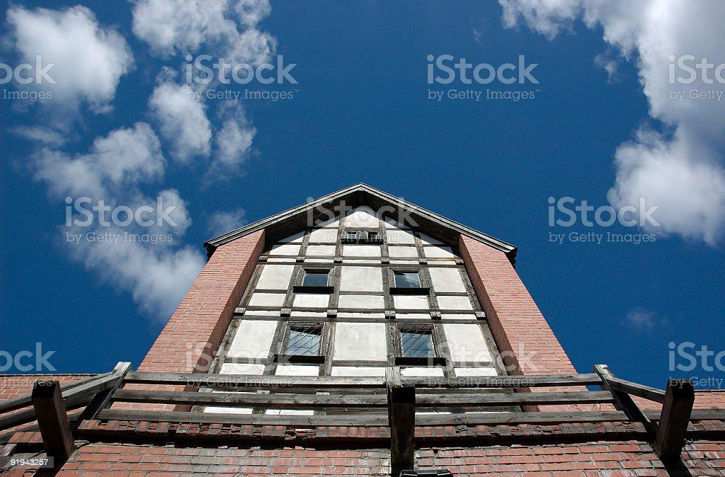 Fachwerk en ciel photo libre de droits