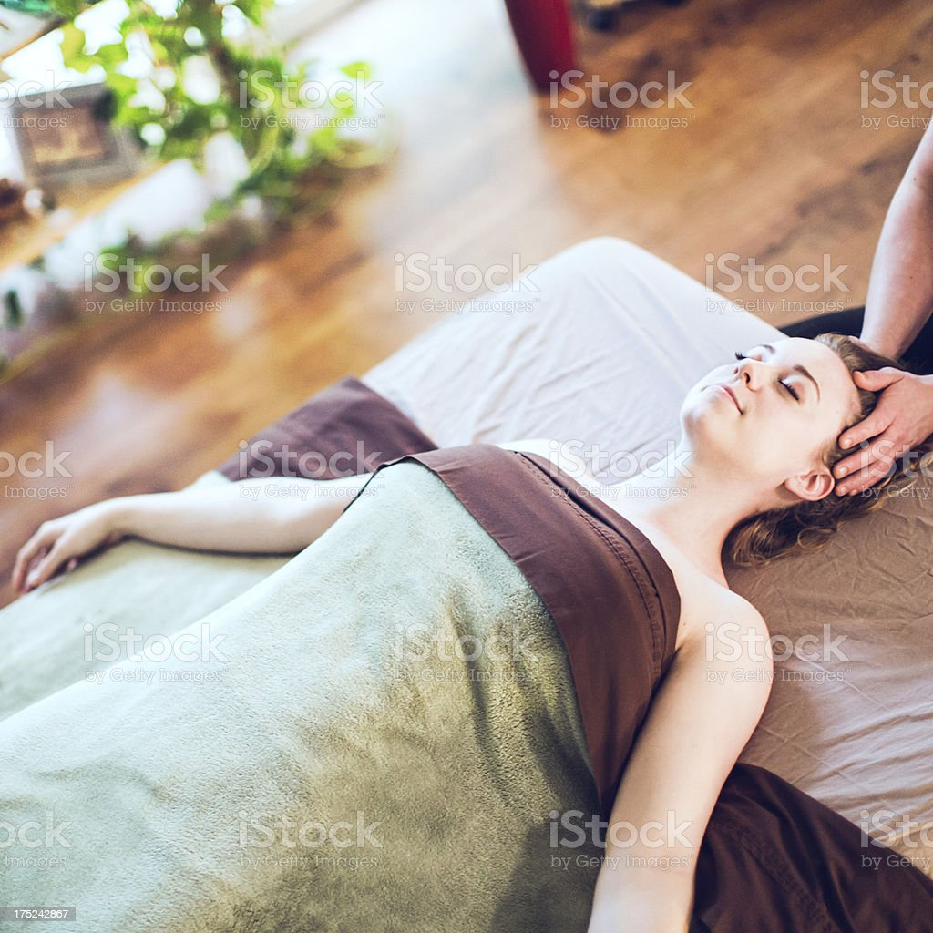 Facial and Scalp Massage royalty-free stock photo