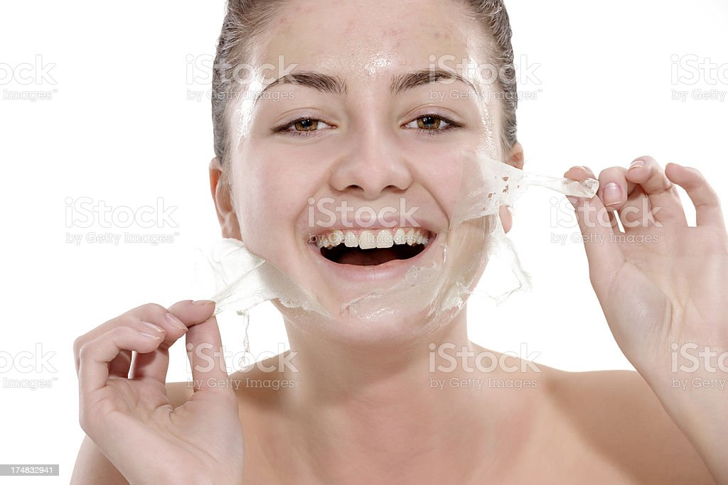 facial care and mask royalty-free stock photo