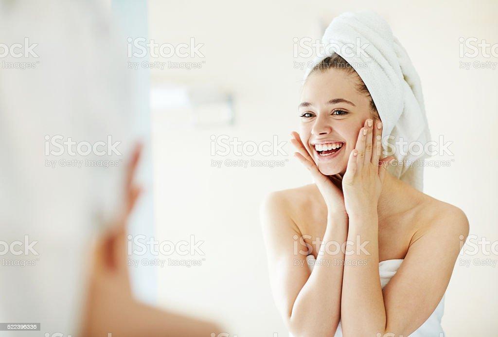 Facial care stock photo