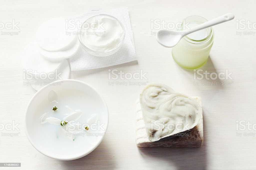 Facial cleanser royalty-free stock photo
