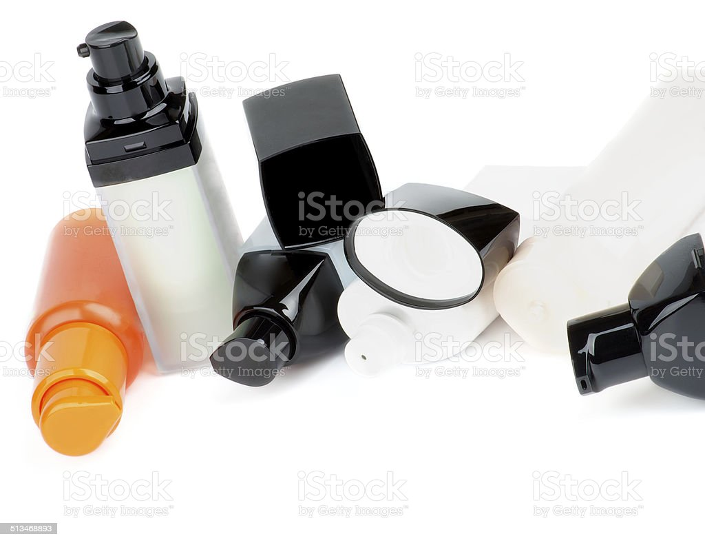 Facial Cosmetics Containers stock photo
