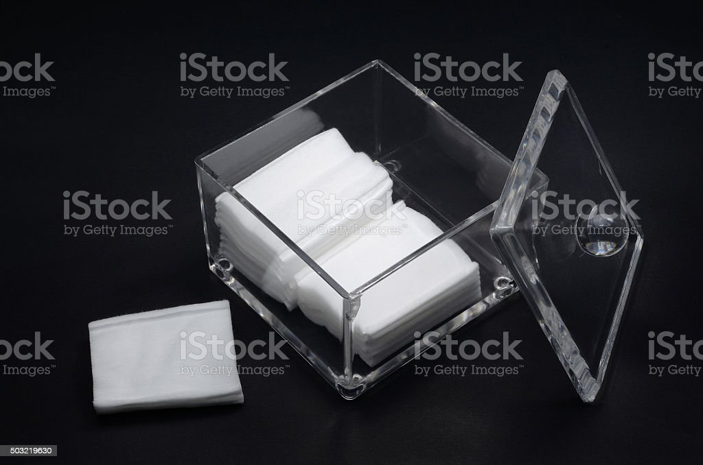 facial cotton stock photo