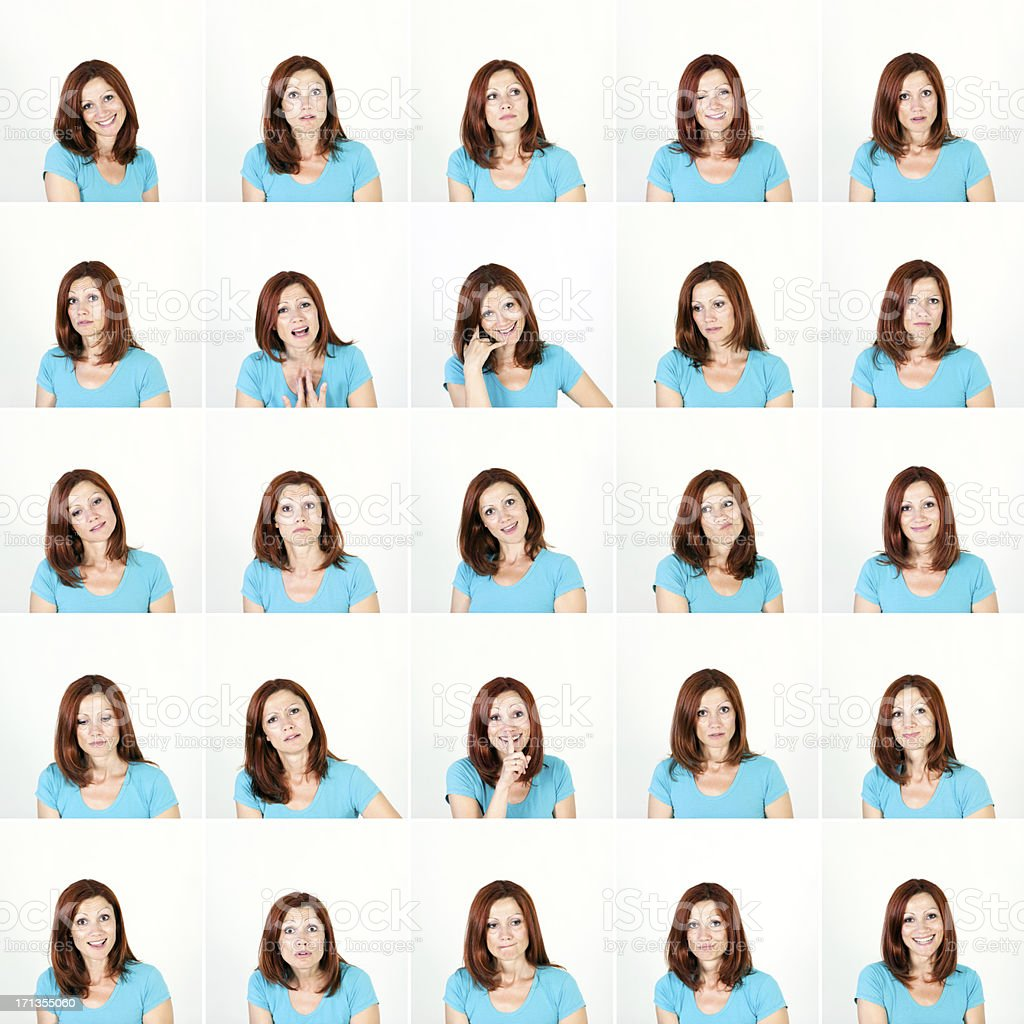 Facial Expression of Women stock photo