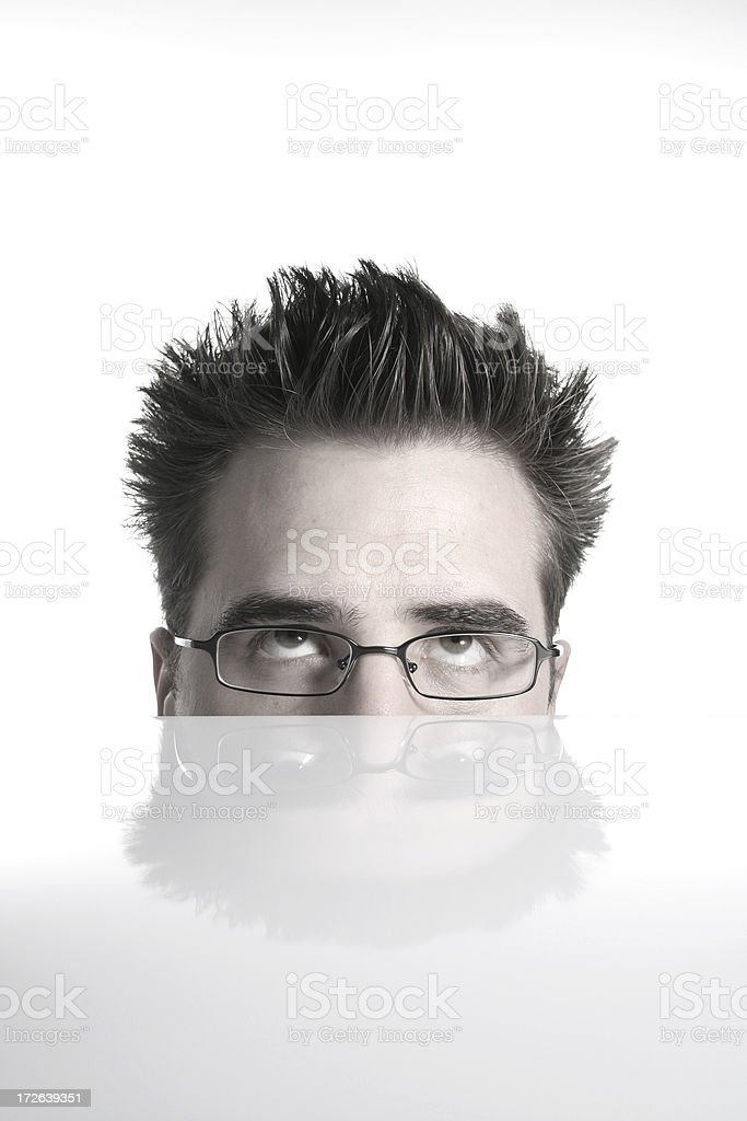 Facial expression - rolling eyes royalty-free stock photo