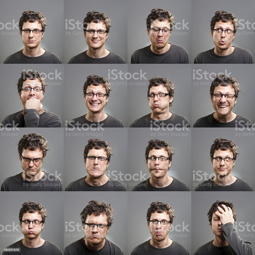 Facial expressions royalty-free stock photo