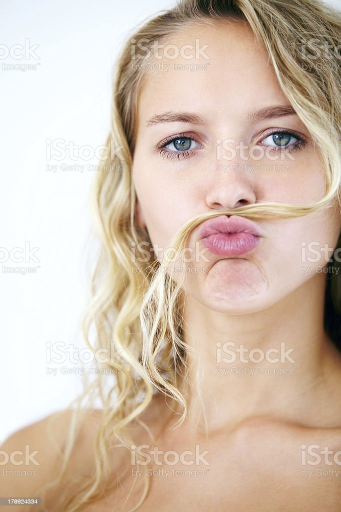 Facial hair with flair royalty-free stock photo