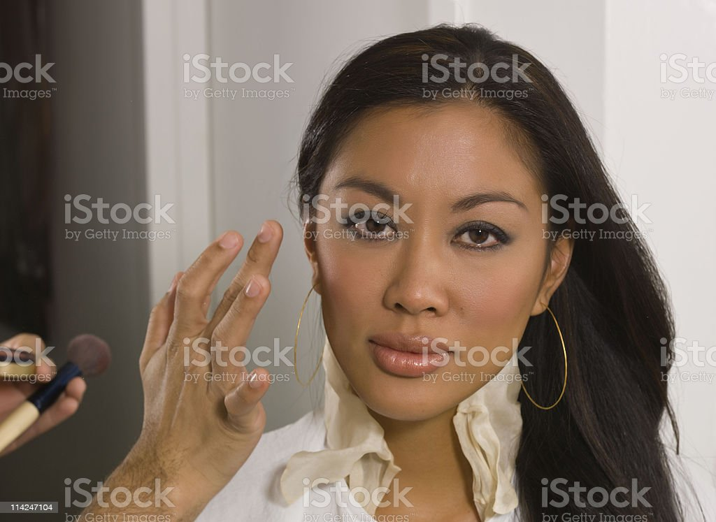 facial make up work stock photo