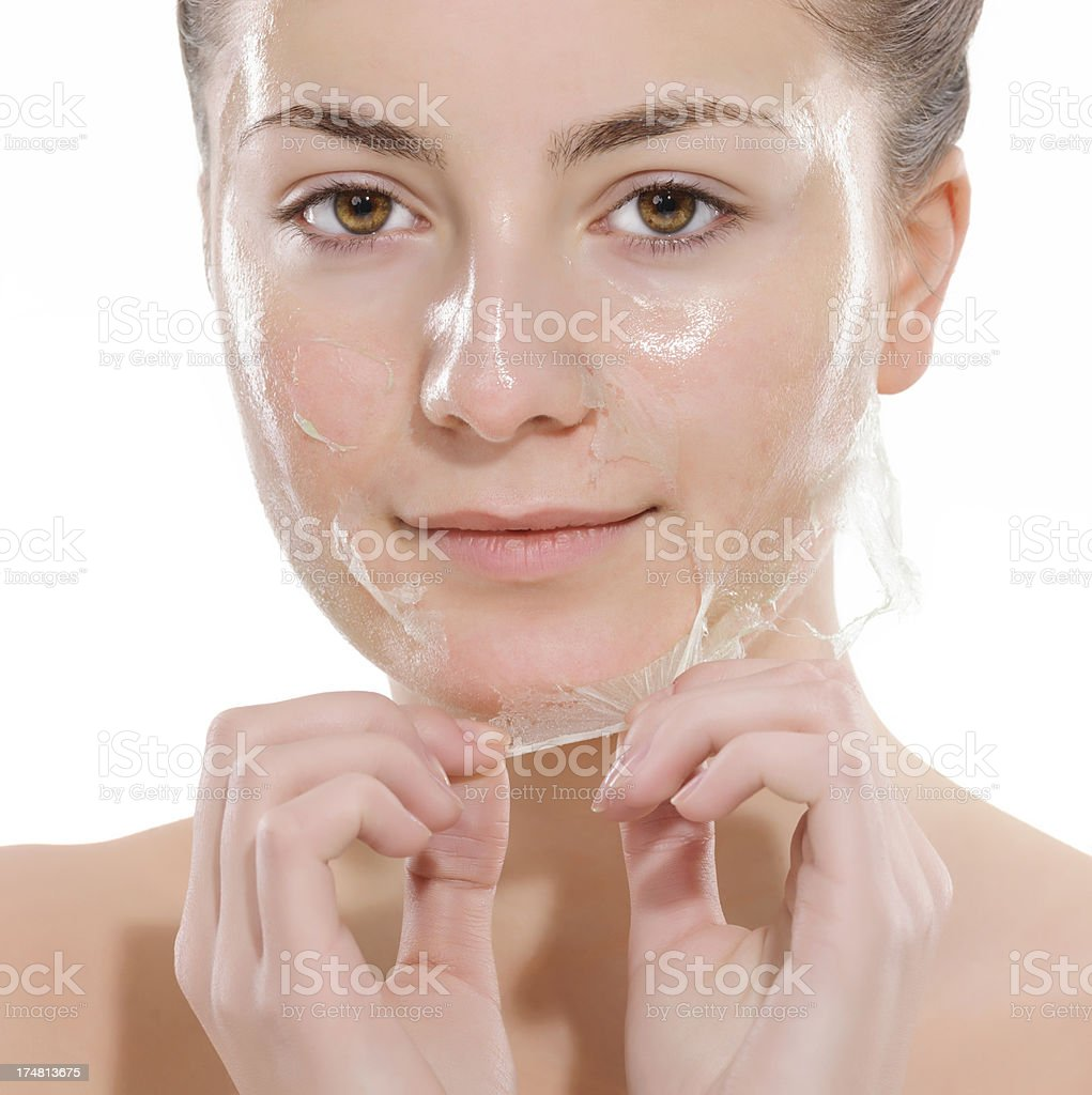 facial mask care royalty-free stock photo