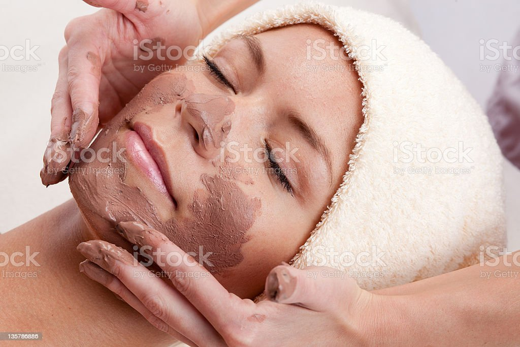 Facial mask. XXXL royalty-free stock photo