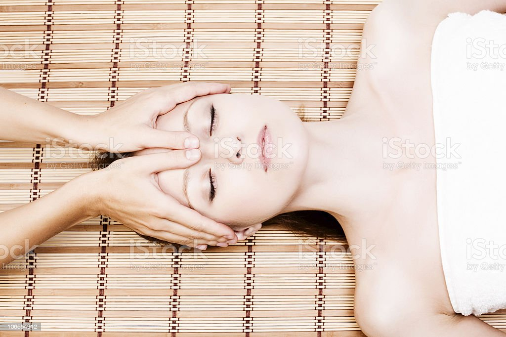 facial massage royalty-free stock photo