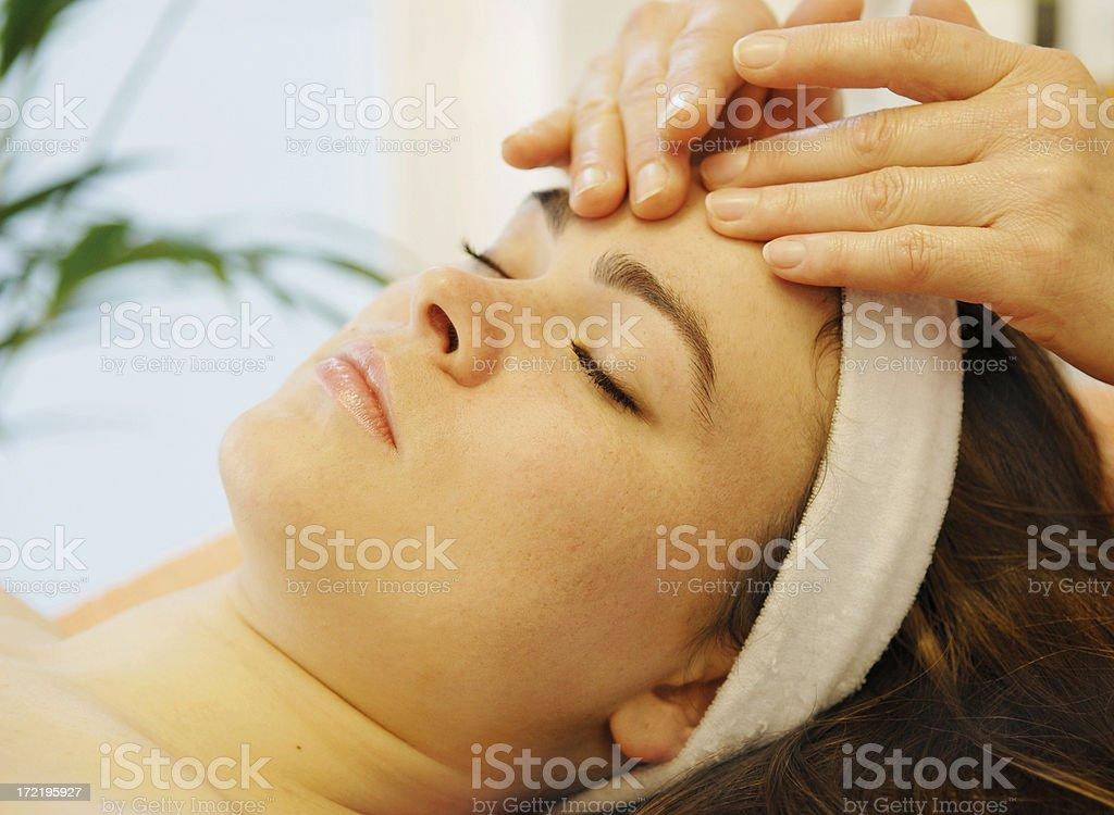 facial massage stock photo